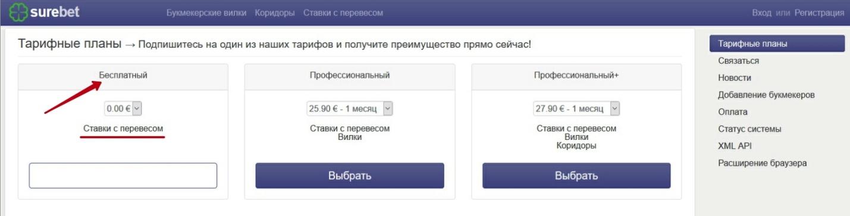 Регистрация в Surebet