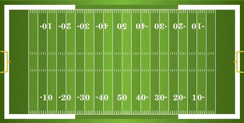 Схема поля для американского футбола
